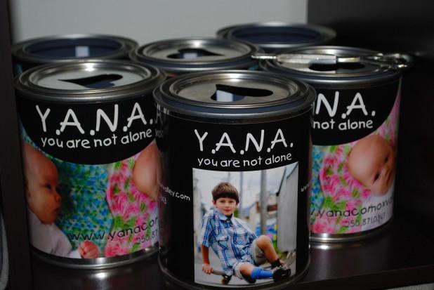 Donation tins