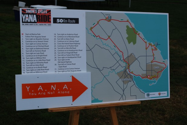 YANA ride map