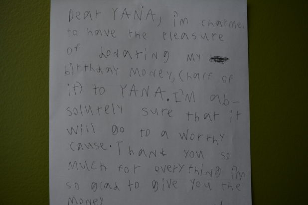 Birthday Money Letter 2015