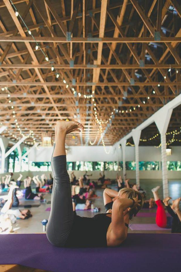yoga in the barn, coastal black 2015