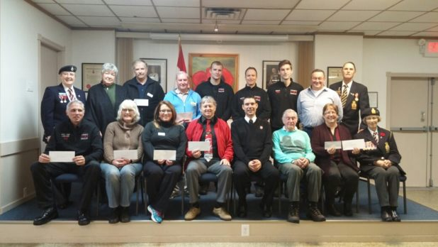 Legion and Auxilary 2016 December Cheque Presentation