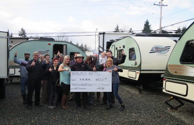 Arbutus RV Thumbs Up Feb. 2016