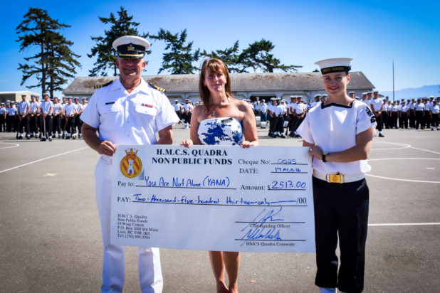 YANA donation from HMCS QUADRA