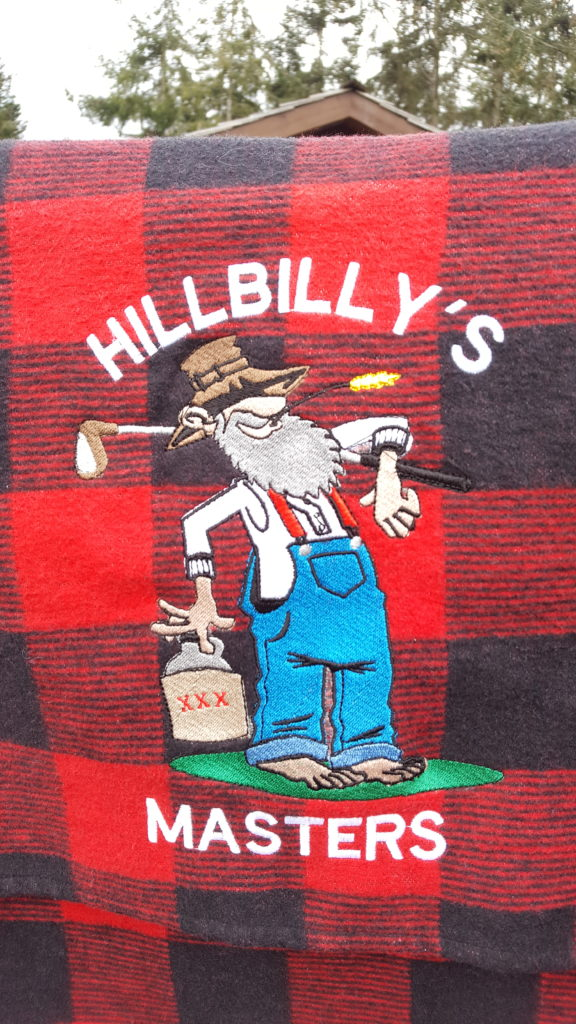 Hillbilly's Masters Golf Championship winner's jacket